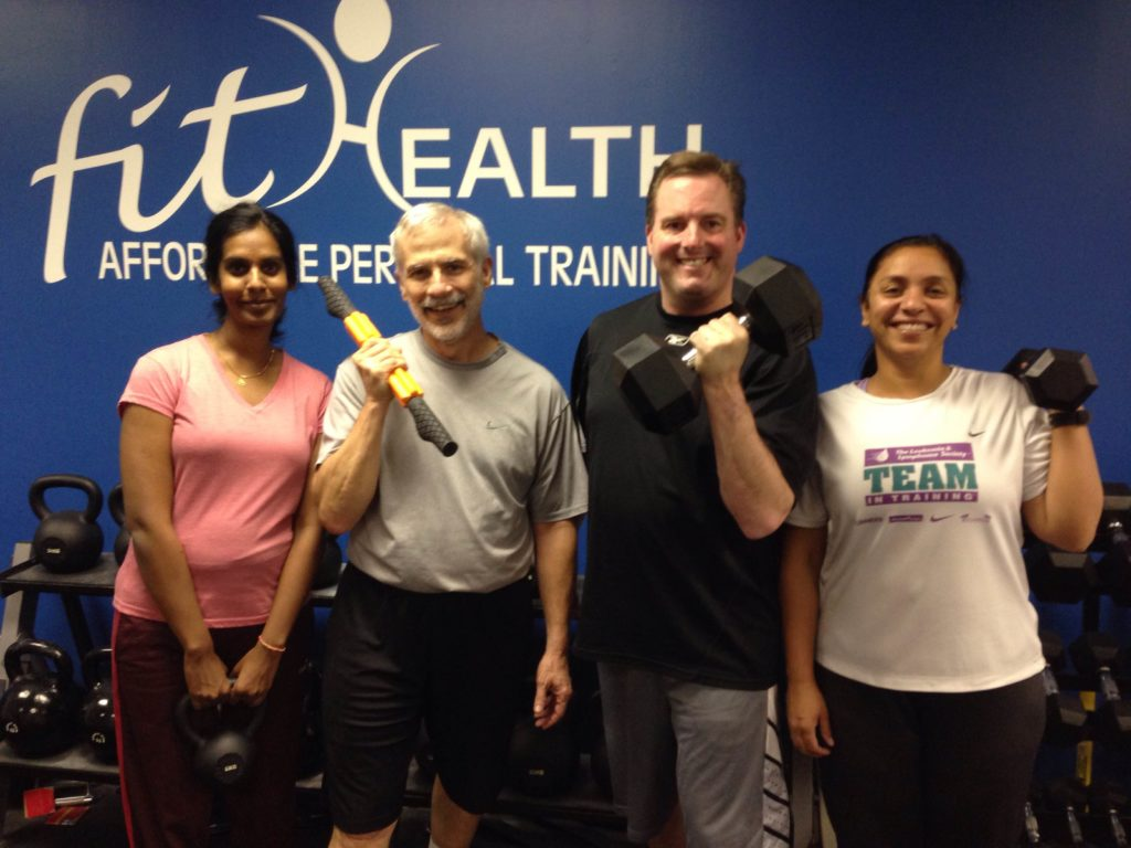 Happy clients at FitHealth